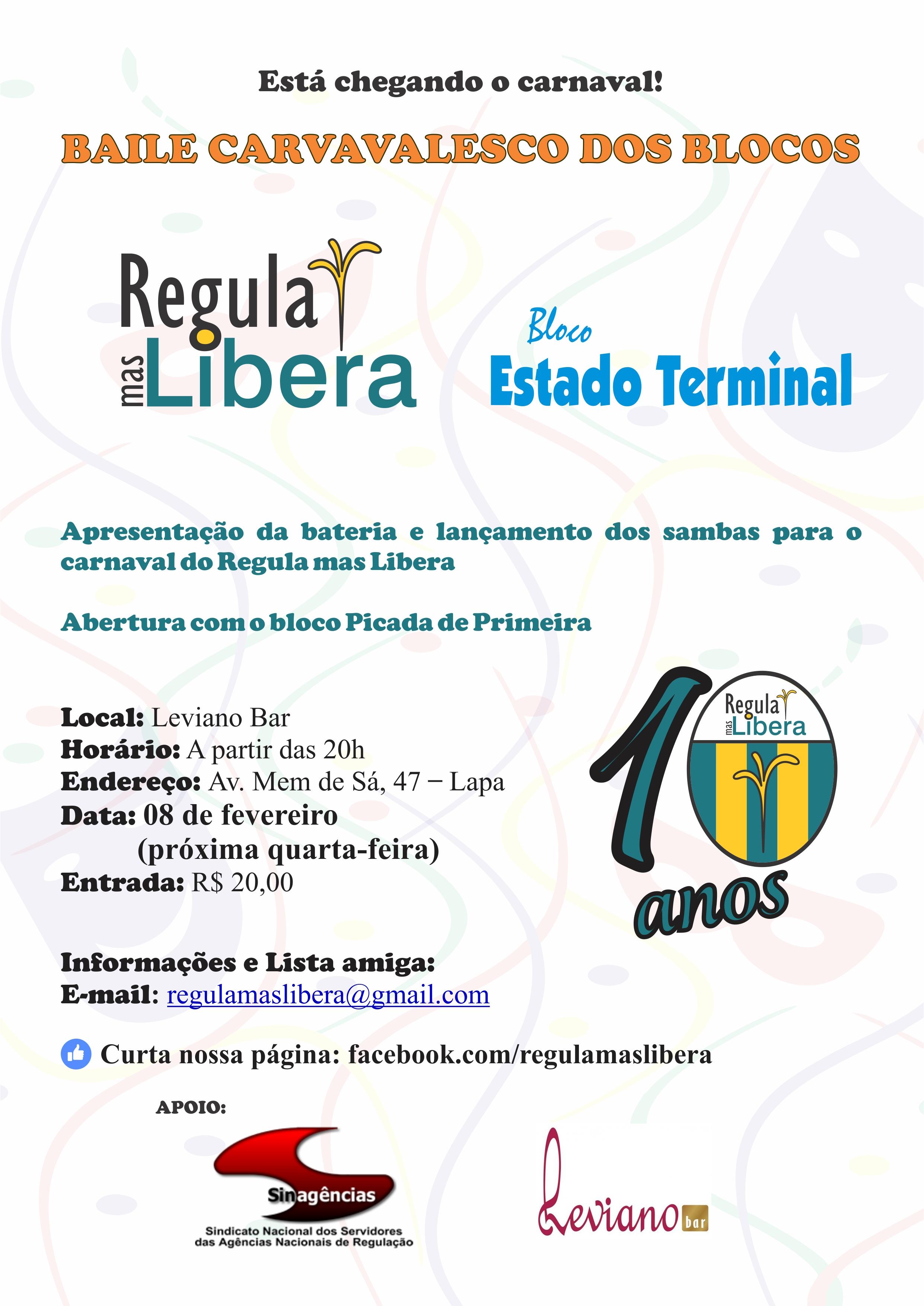 """Carnaval do Bloco """"Regula Mas Libera"""" – o convite é para todos"""