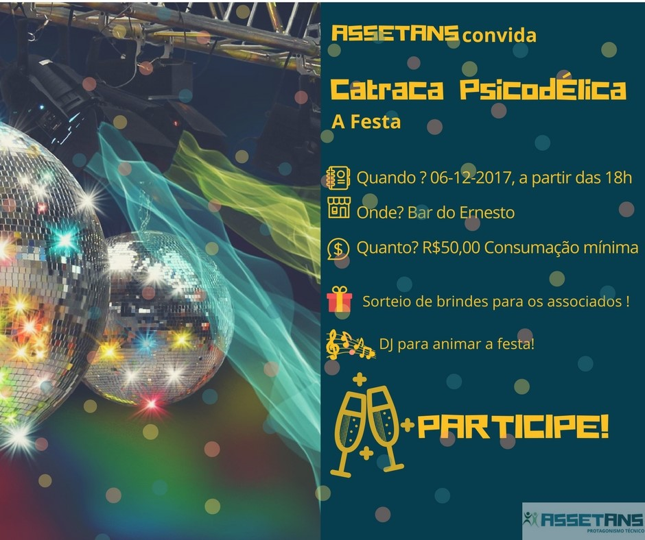 Festa da Catraca Psicodélica – 6 de Dezembro – Bar do Ernesto